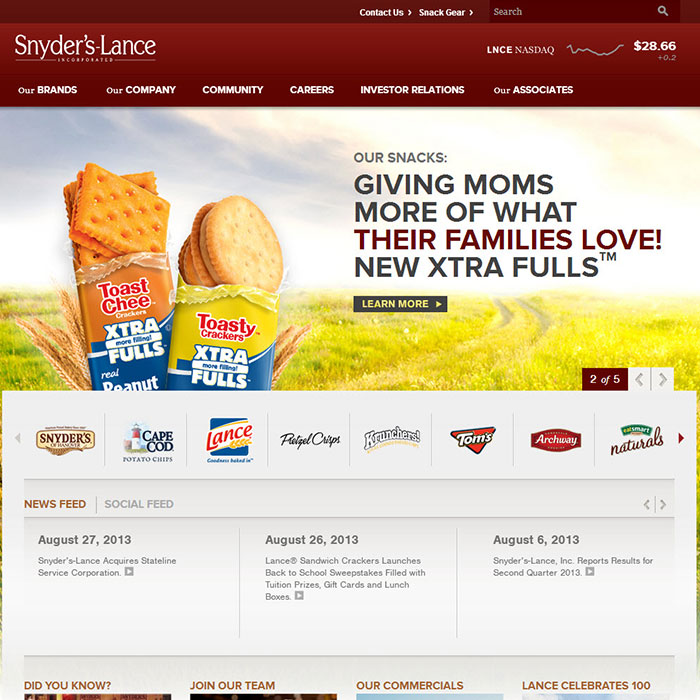 Amy Coats | Snyder's Lance Site Design and Development